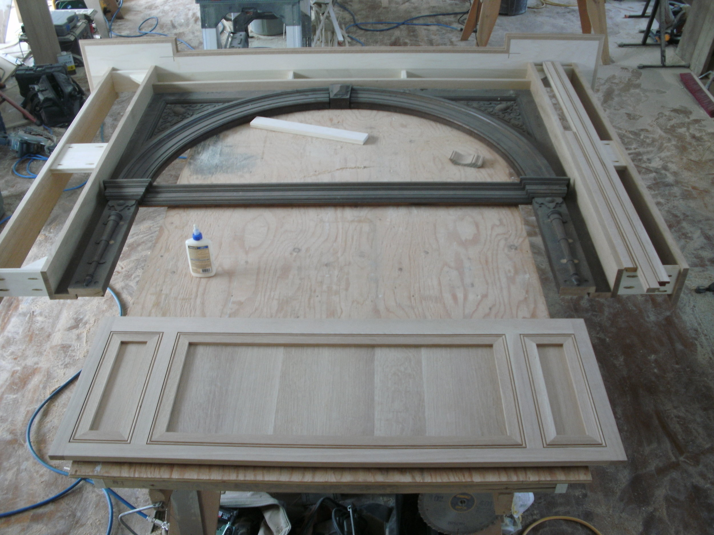 Center Panel with Flush Beaded Inserts