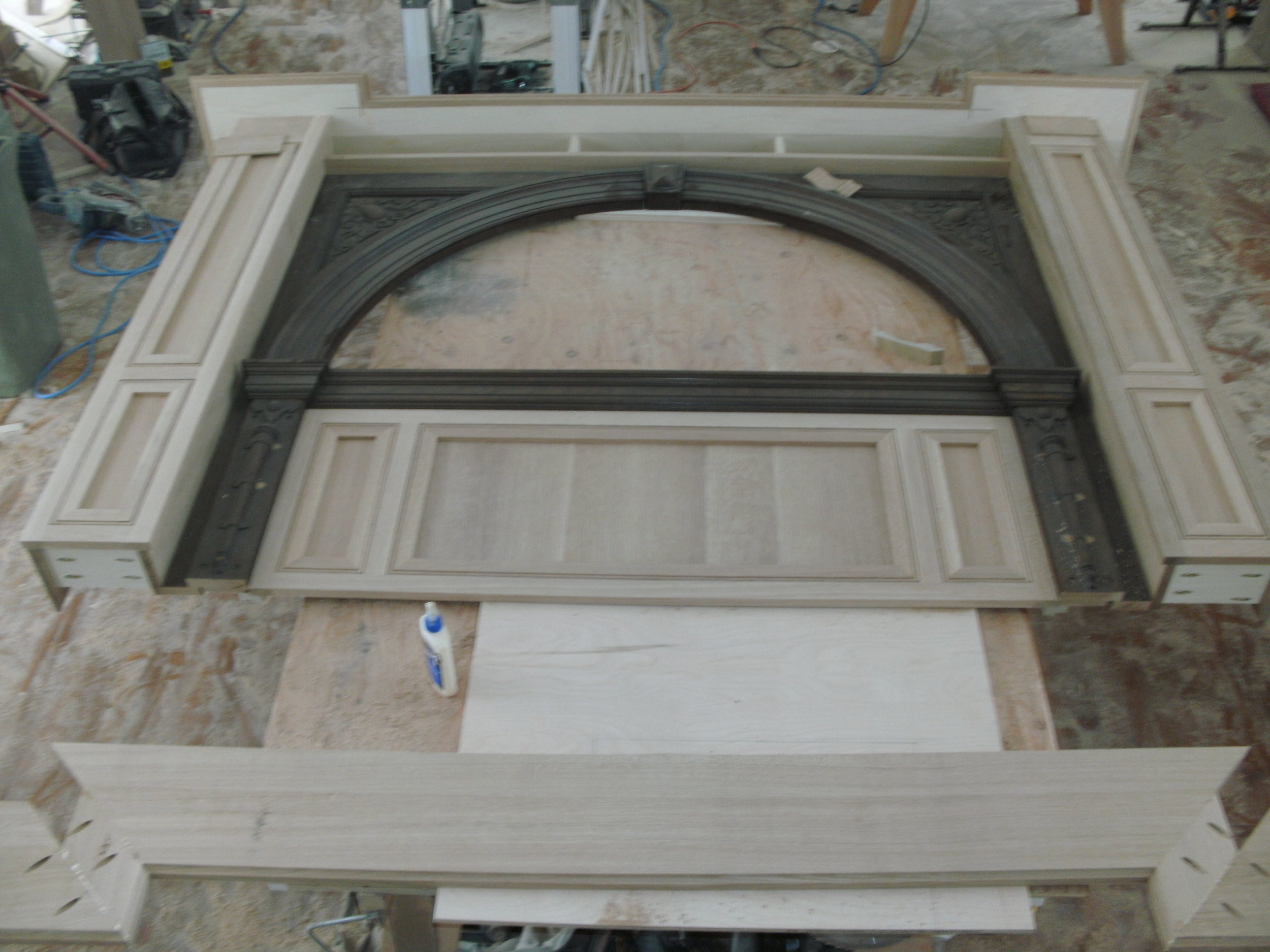 Mantel Portion of the Fireplace Surround