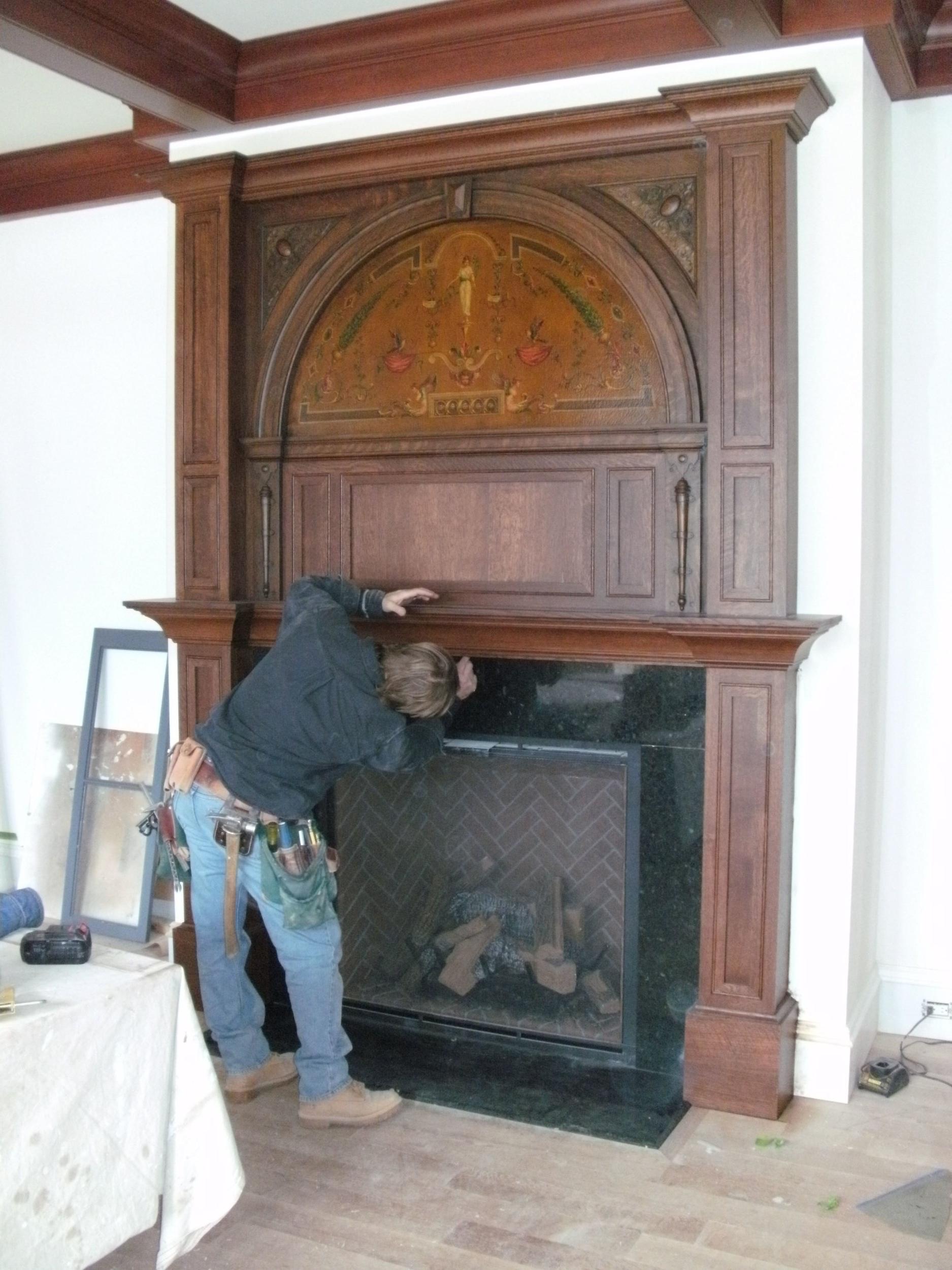 Installing Mantel Crown Mold