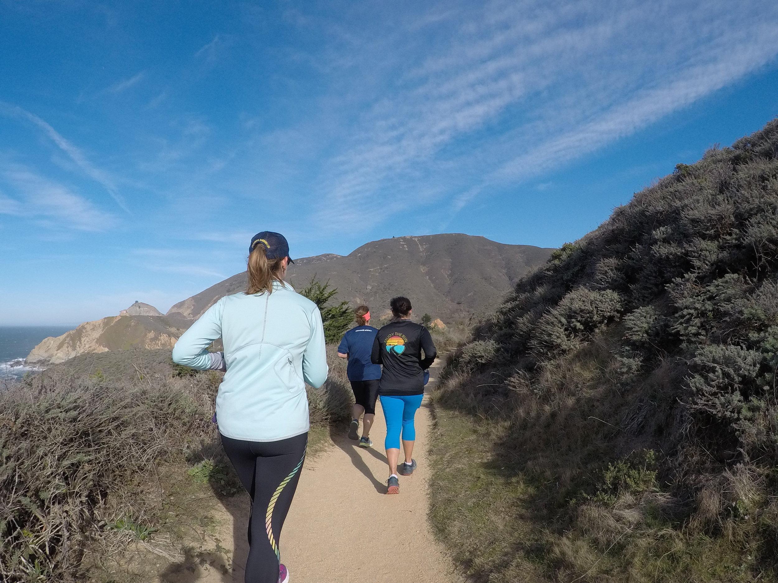 Trail run with amazing ocean views