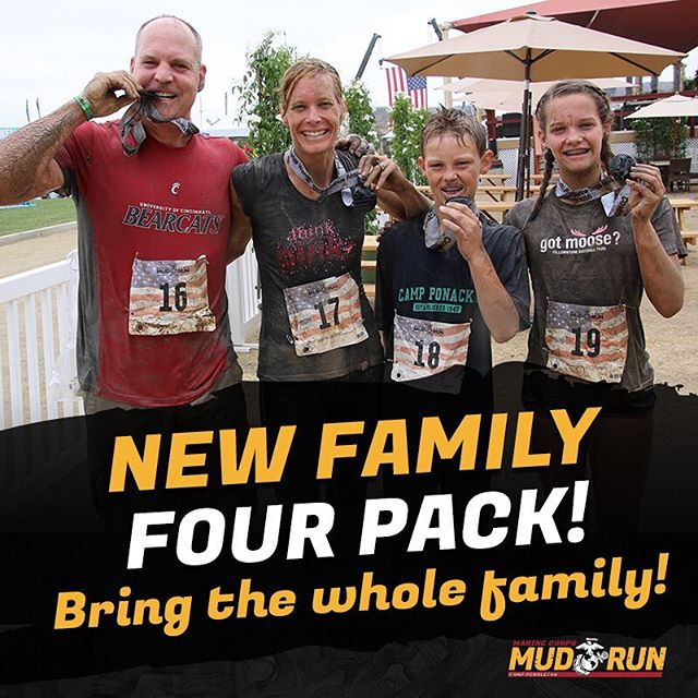 Save even more this Cyber Monday with our New Family Four Pack Deal! Save $10 at check out on these already discounted packages with Code: CYBERMUD10  Packages include 2 adults and 2 kids 5k/2k & 10k options. Valid through Nov 26th – Nov 28, Family 4-pack offered Sunday only.