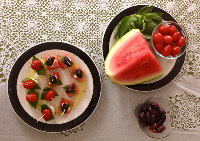 No heat Kabobs Watermelon - The Kissters