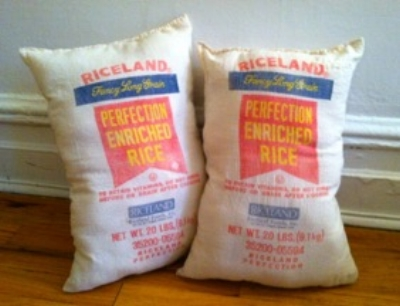 Rice Bag Pillows DIY - The Kissters