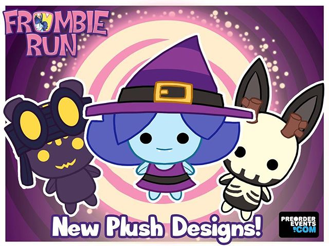 Get exclusive plushies and pins in our @frombierun expansion event! Save BIG $$ when you purchase these rewards! ☠️🌑🌟 ► Share your support: https://www.thunderclap.it/projects/59098-frombie-run-app-game-expansion