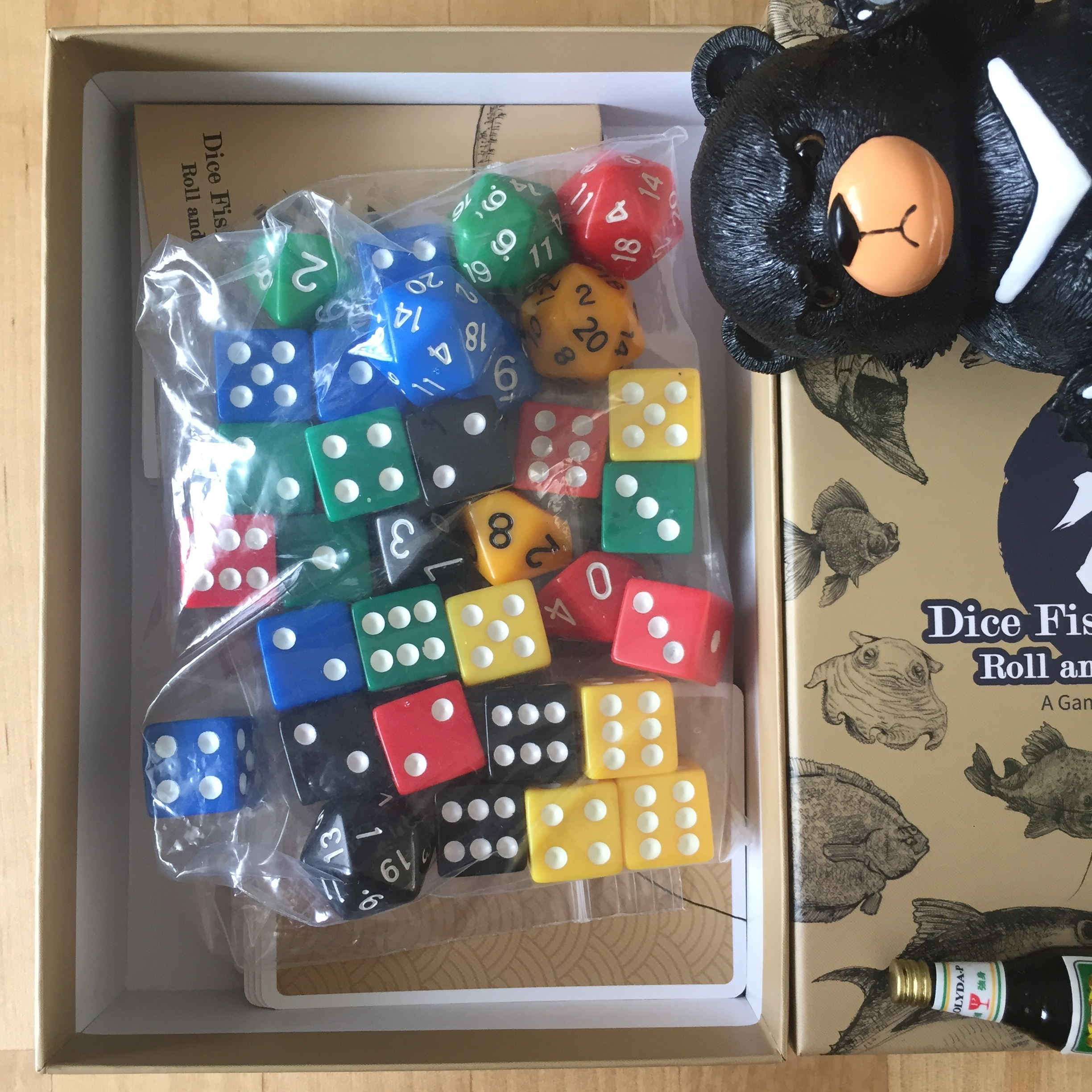 Even if you end up not liking the game, you'll still have a TON of dice: 25 d6s, 5 d10s, and 5 d20s!