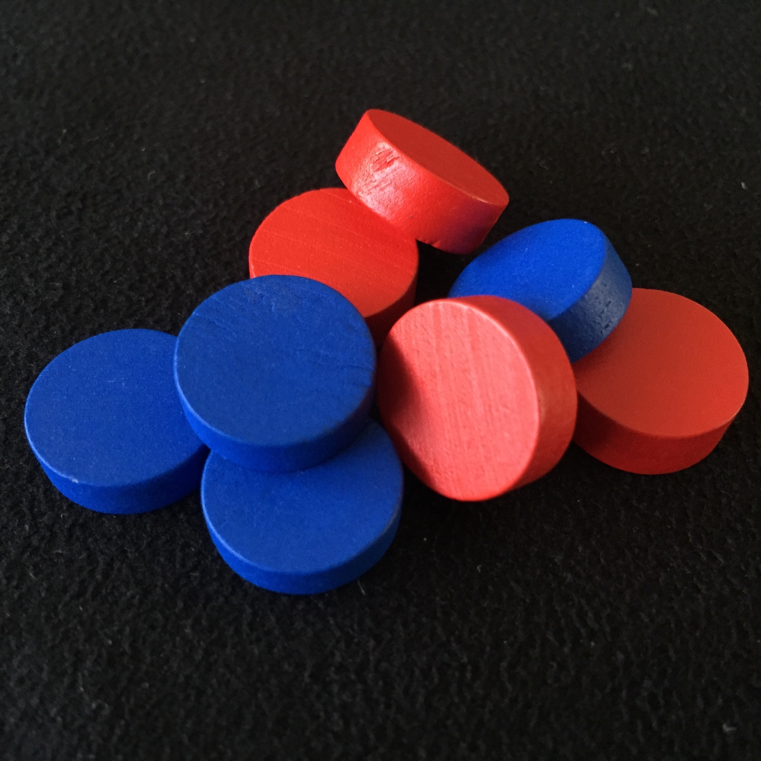 wooden player tokens