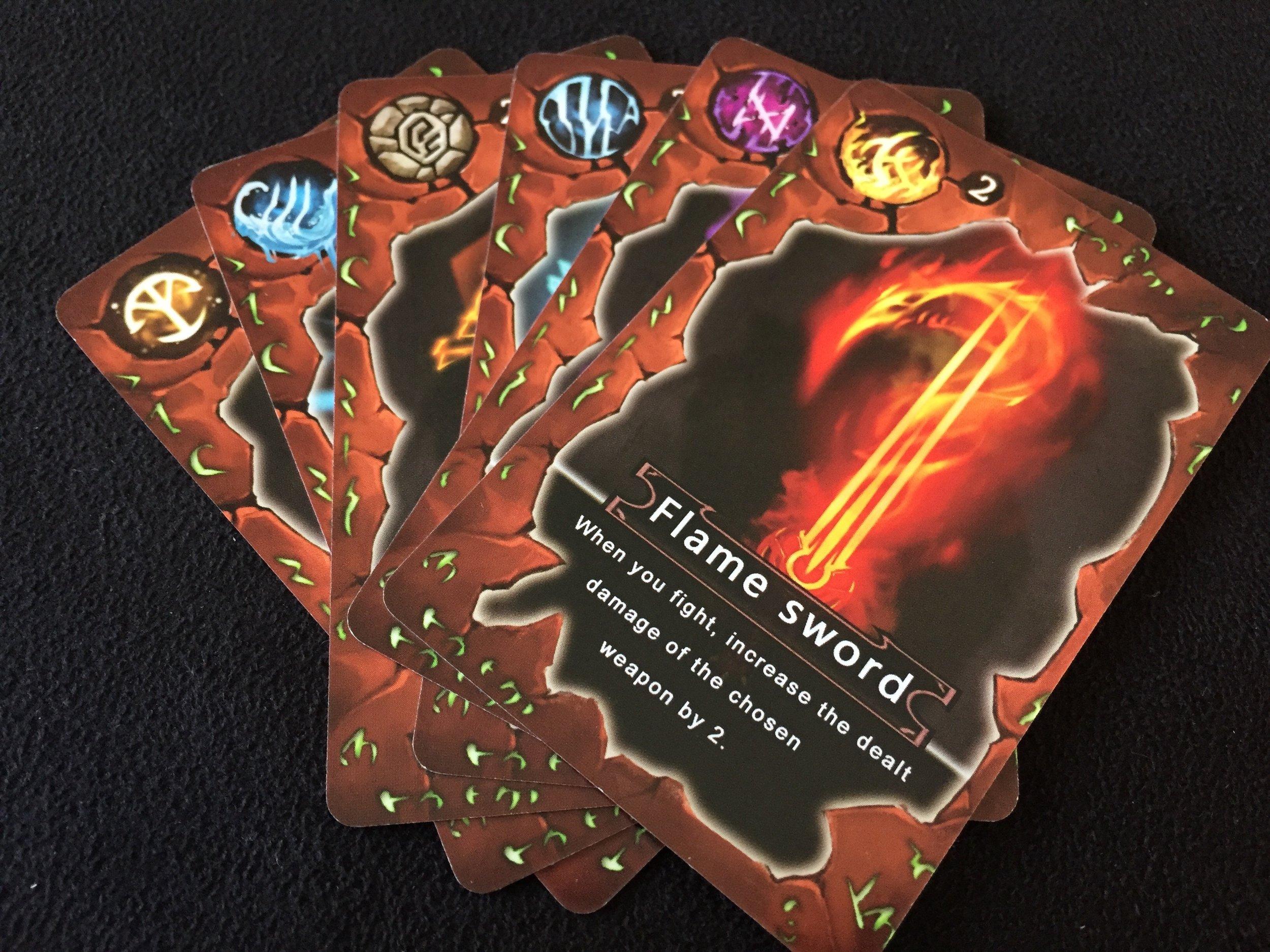 6 unique Magic Power cards