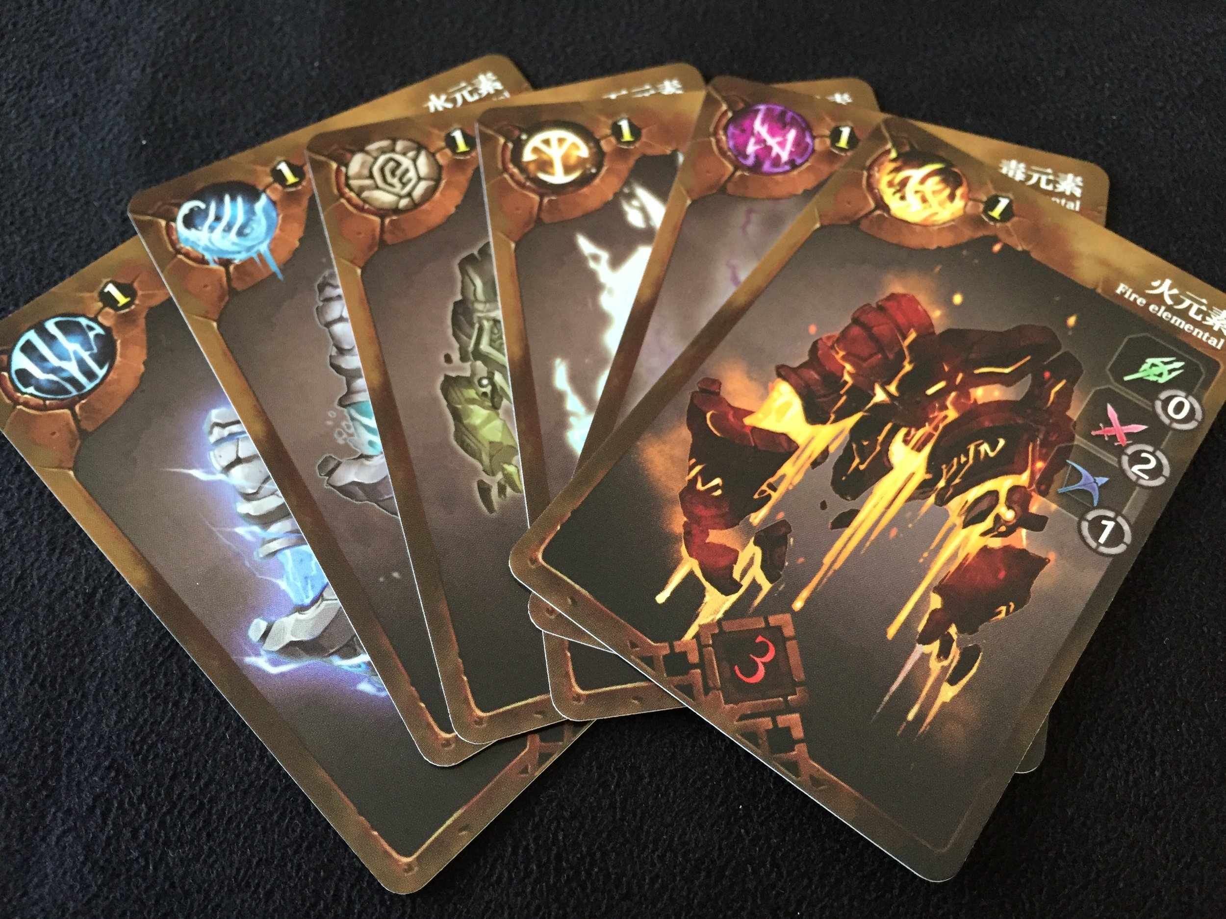 sample Elemental Monster cards