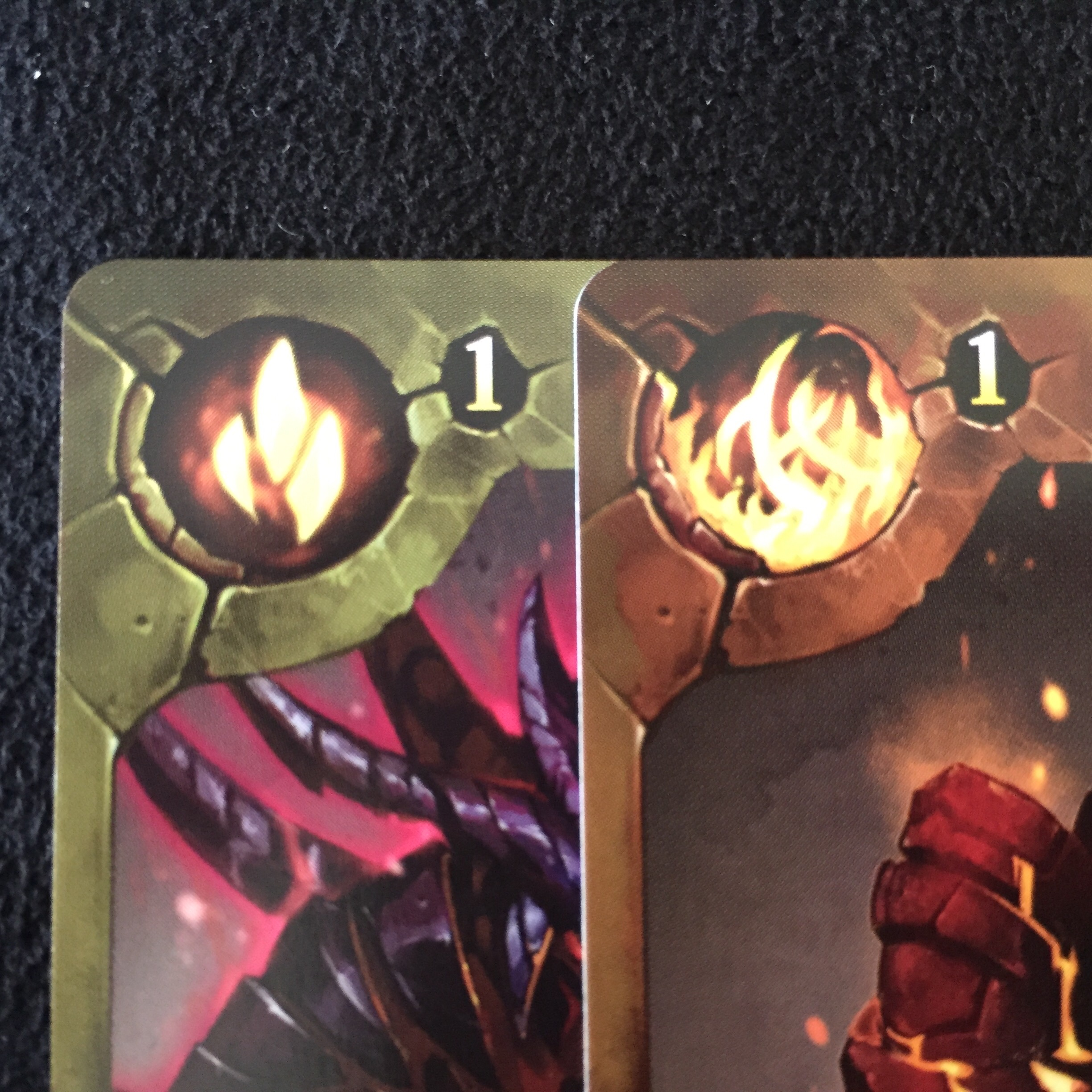 One is XP. One counts the number of fire elements. What? Why are you confused?
