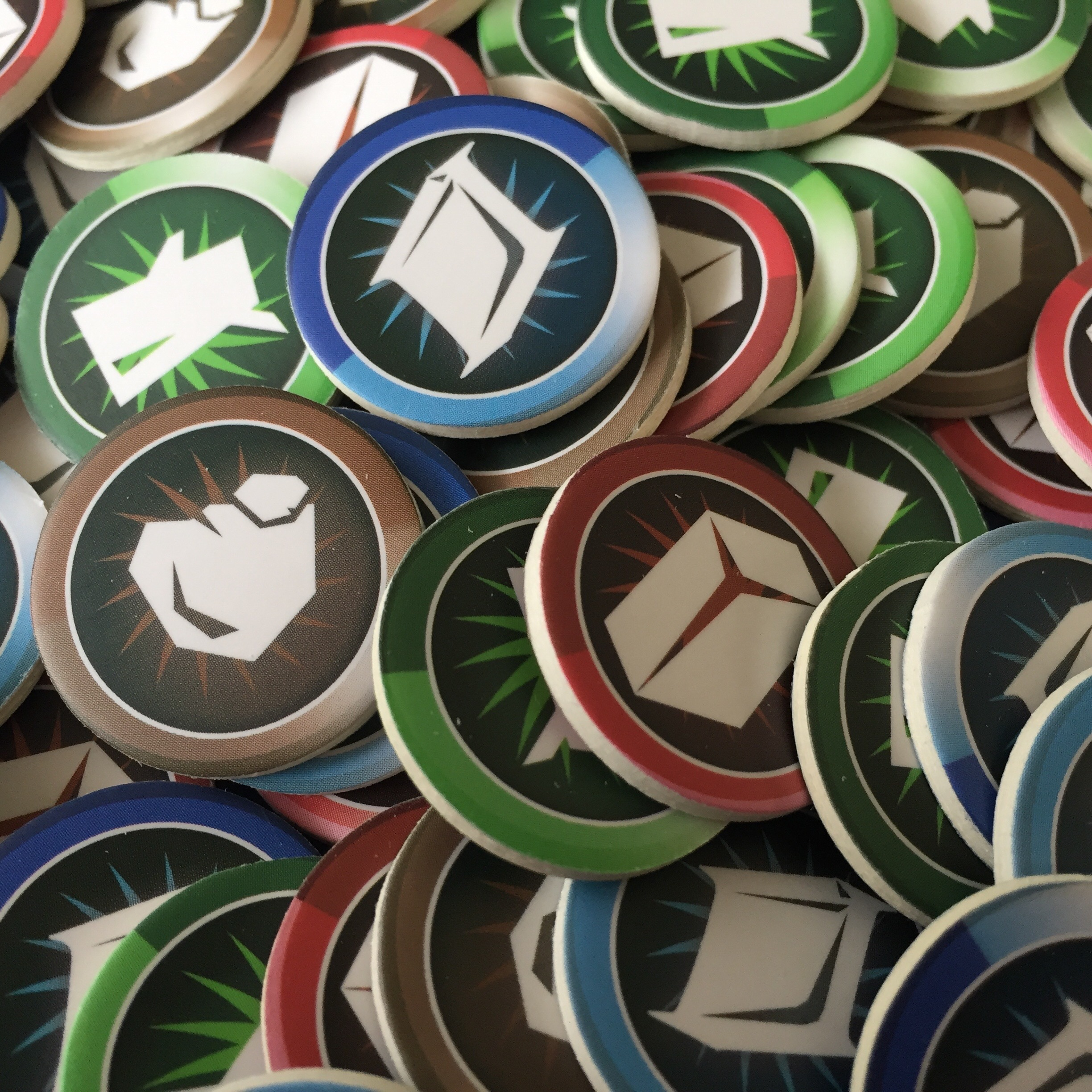 Colorful resource tokens!
