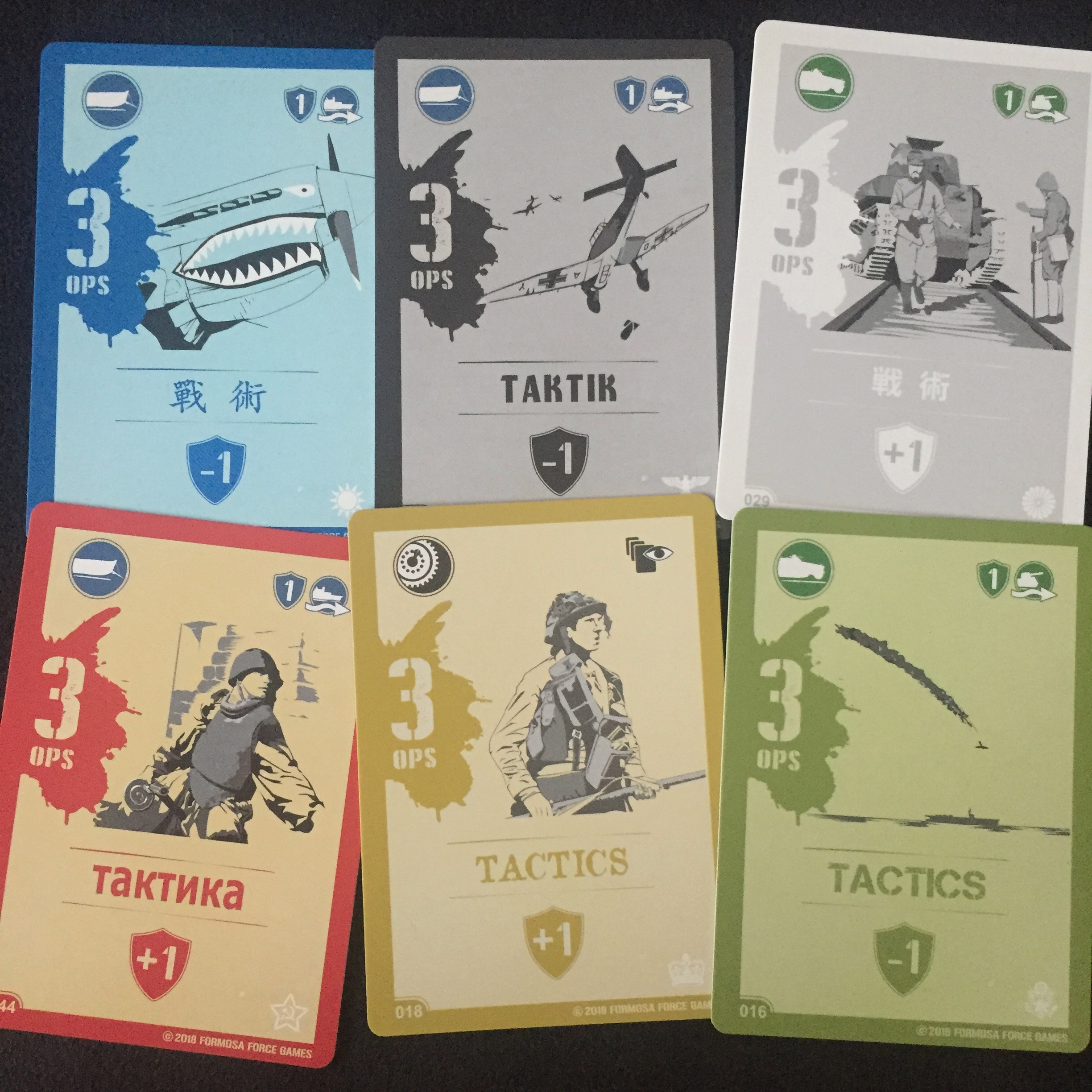 Tactic Cards: 6 nations. 5 languages.
