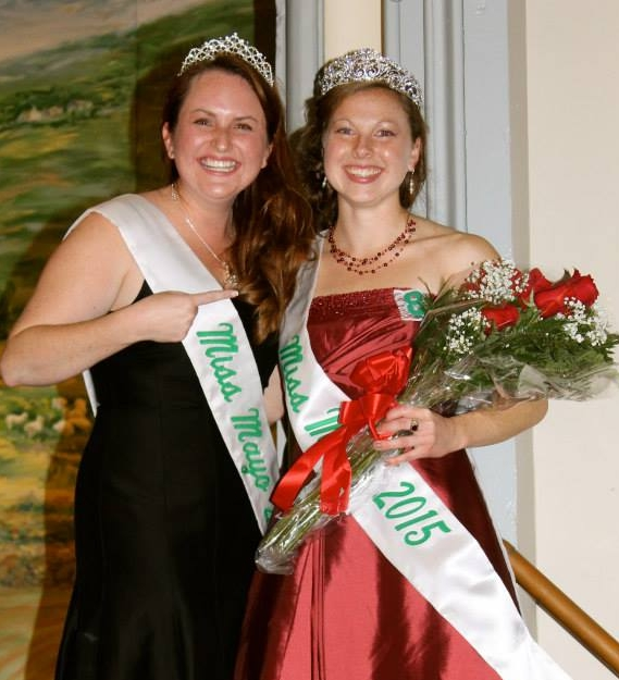Look how much fun Miss Mayo has! Miss Mayo 2014 Erin Carroll with the newly crowned Miss Mayo 2015 Julia Walsh.