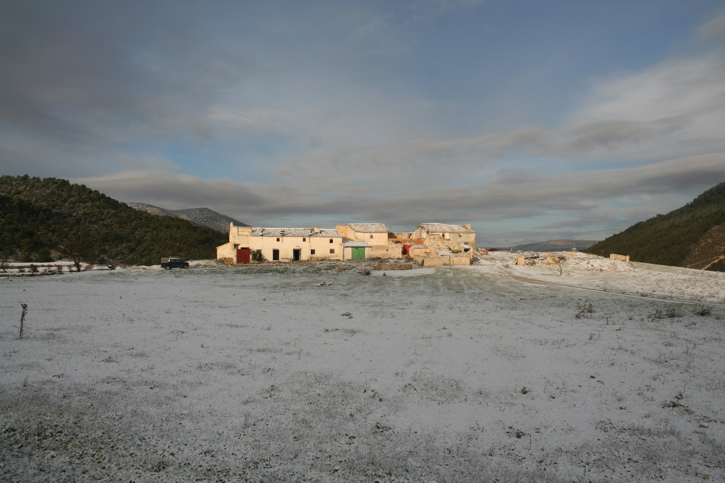 Los Gázquez, winter 2009, in a state of ruin.
