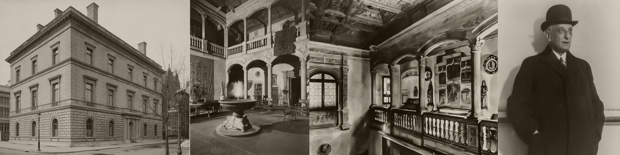 The Blumenthal residence in New York 1930's. You can see the Patio de Honor from the castle of Vélez Blanco built into the interior of the building.