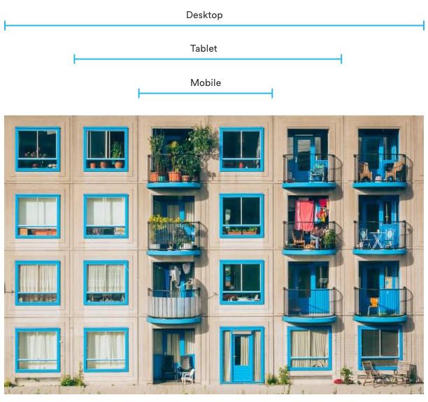 Real life grids applied to a responsive website