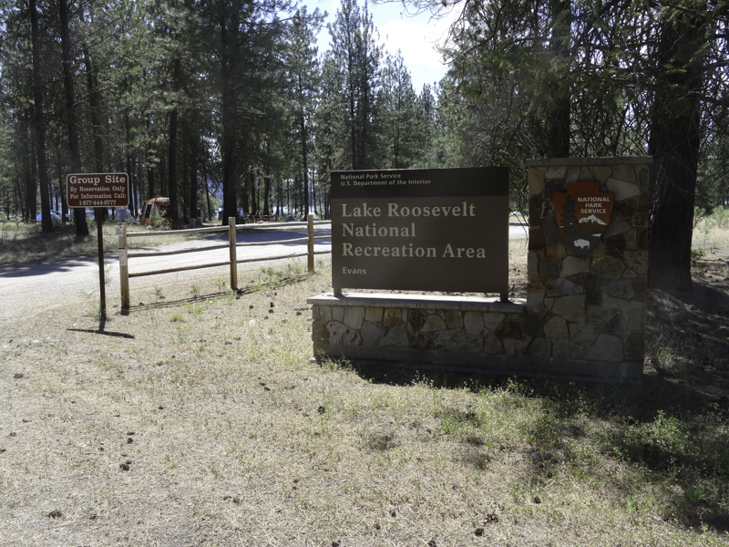 The entrance into the group campsites.