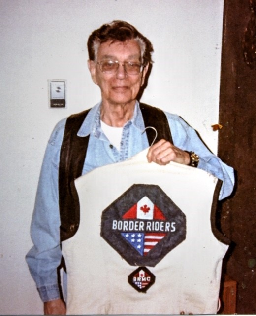 Hugh in 2002 with his original BRMC Colors