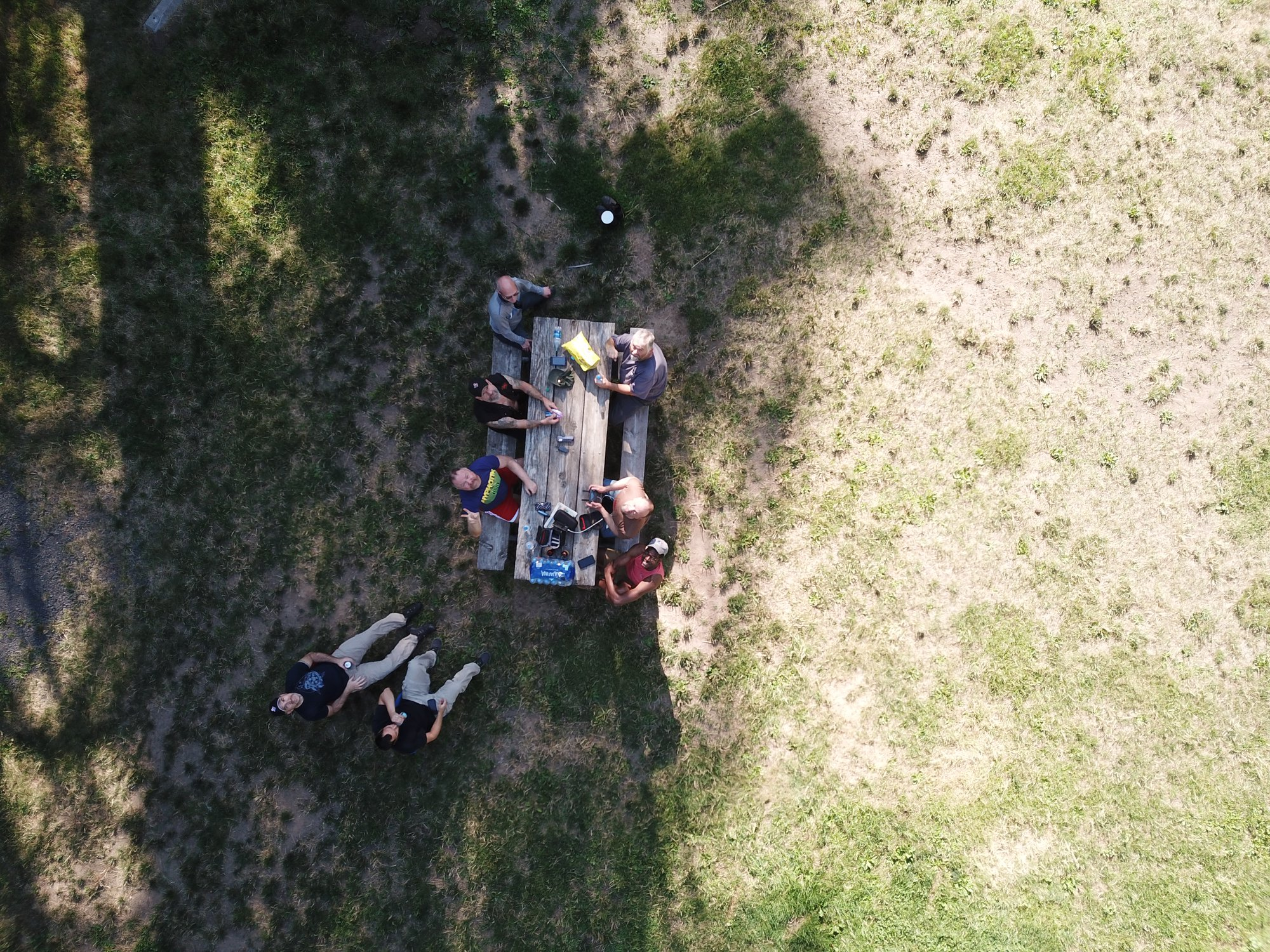 Bird's eye view of the guys camping at Lewis & Clark, Dayton WA