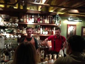 Sean Muldoon (L) and Jack McGarry at talk Irish cocktails in the Parlor.
