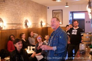 Robin Robinson of Compass Box leads the discussion at Whisky Roundtable