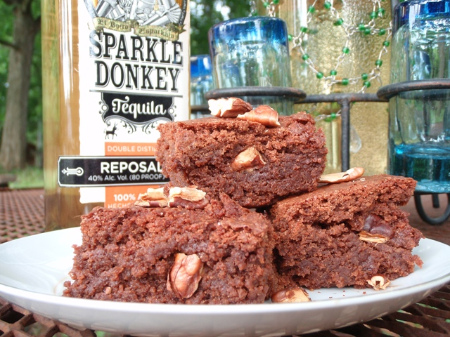 Sparkle Donkey Tequila Brownies