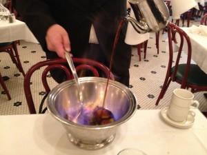 Cafe Brulot service at Galatoire's
