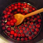 coating cherries in booze syrup