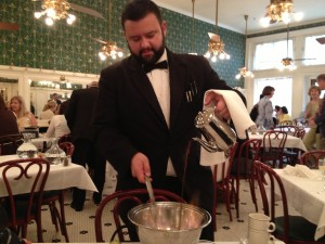 Cafe Brulot served tableside at Galatoire's