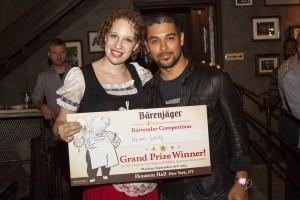 Wilmer Valderrama poses with winner Naomi Levy, courtest M & C Saatchi PR