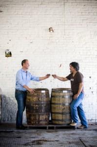 Trey Zoeller & Chef Edward Lee, courtesy Castle Brands
