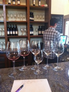 Tasting Room at La Stella winery, with Michael Kosaka in background. Photo by Christine Campbell.