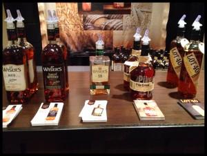 Wiser's range at WhiskyFest, photo by Amanda Schuster