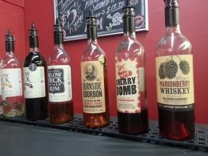tasting room lineup at Eastside Distilling