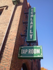 Schafly tap room sign