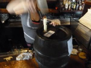 Opening a Franconian cask