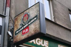 Prague Beer Museum sign