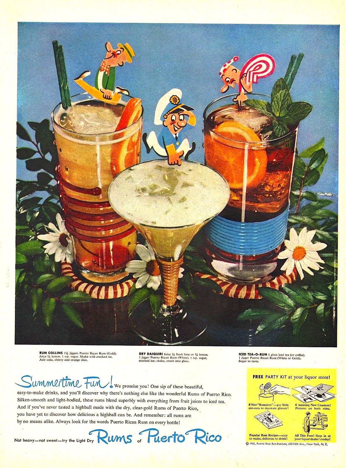 Rums of Puerto Rico ad, 1951