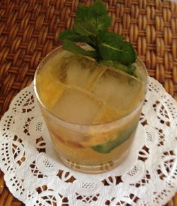 Peach, Basil and Mint Smash by Amanda Schuster