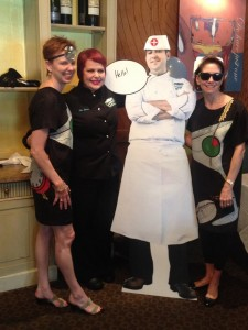 "Ti Brennan, Lu Brow, ""Flat Carl"" & Lally Brennan at the Hangover Hospital Brunch at Cafe Adelaide"