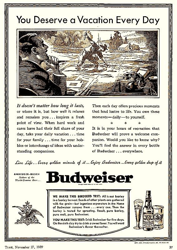 Budweiser, 1939