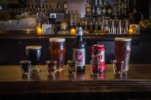 The Boilermaker beer and shot pairings, photo by Paul Wagtouicz