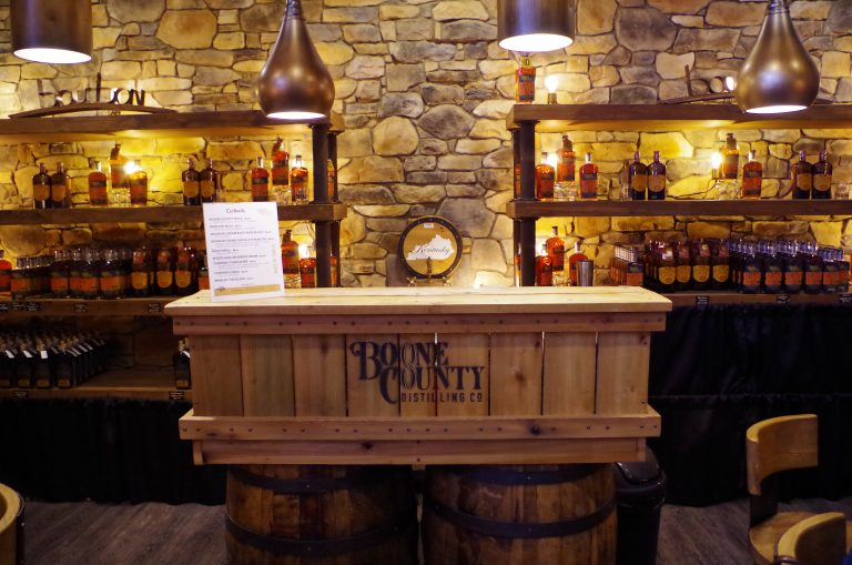 Tasting room at Boone County distillery