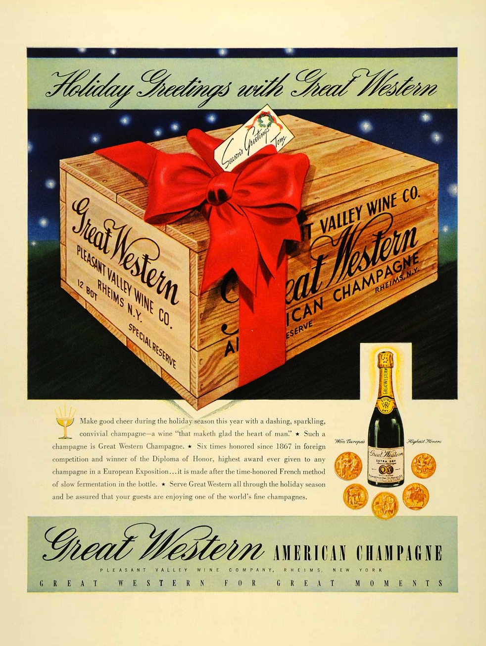 """Great Western """"American Champagne"""", 1937"""