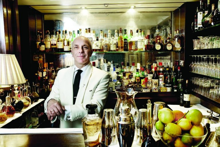 head bartender Alessandro Palazzi at Dukes Bar