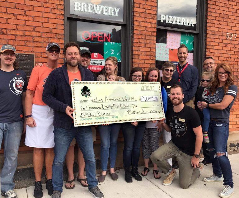 Mitten Brewing raises money for Feeding America West Michigan
