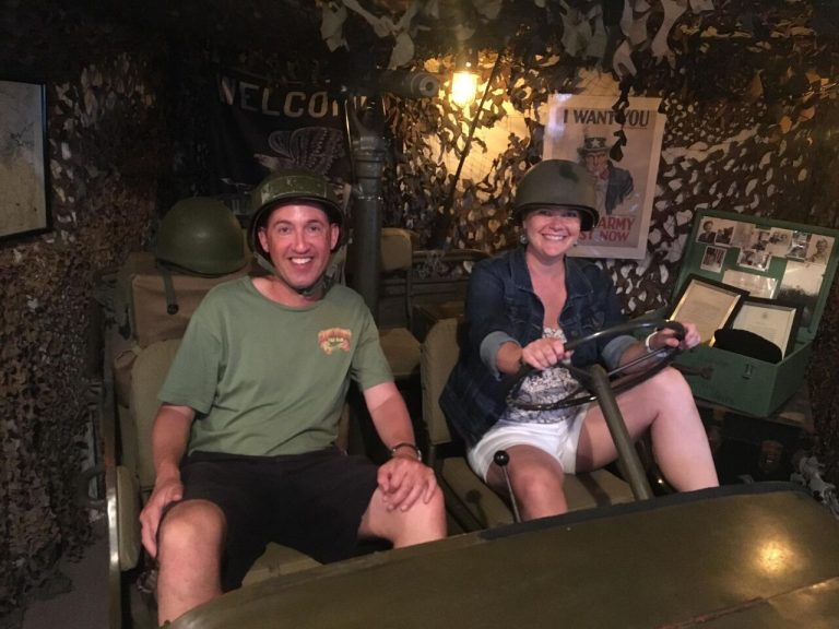 Phil-Galewitz-and-Misty-Williams-in-an-Army-Jeep-at-the-Brewseum-768x576.jpeg