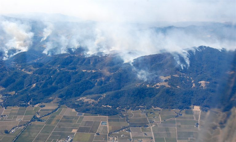 fires in Sonoma county, photo CA National Guard