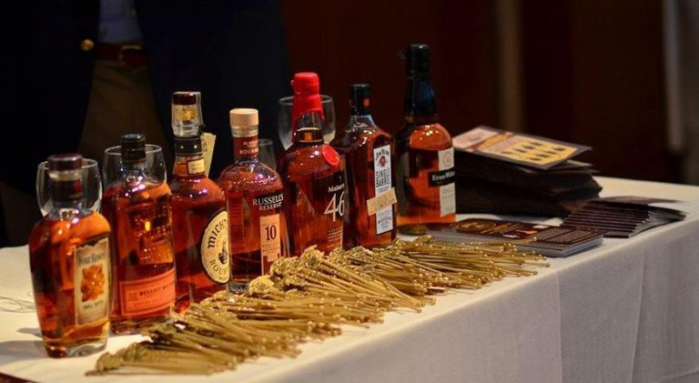 bourbon lineup at Whisky Live by Francine Cohen