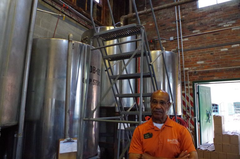 Freddie Johnson guides the bitters tour at Buffalo Trace
