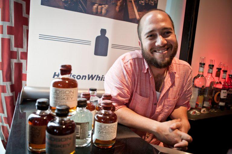 Gable Erenzo of Tuthilltown with Hudson whiskey
